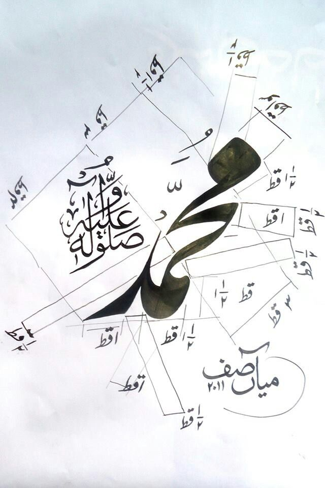 Calligraphy by Mian Asif - Lahore- Pakistan.