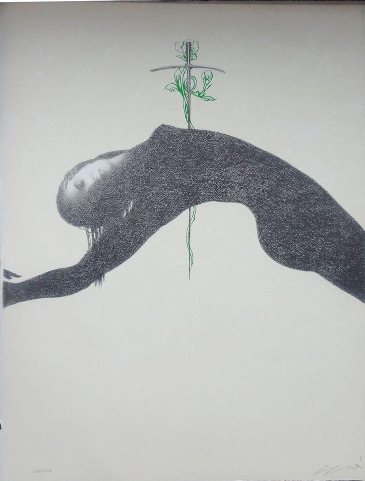 """""""Il foglio della terra si apre sulle pareti del mio studio e registra le infinite chiamate dei sensi, registratore ed ecoscandaglio delle immagini dimenticate e riviste di notte tra il sonno e la veglia."""" cit. Omar Galliani"""
