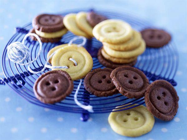 Backen für Kinder - Rezepte für Kekse, Muffins & Co. - knopfkekse0  Rezept