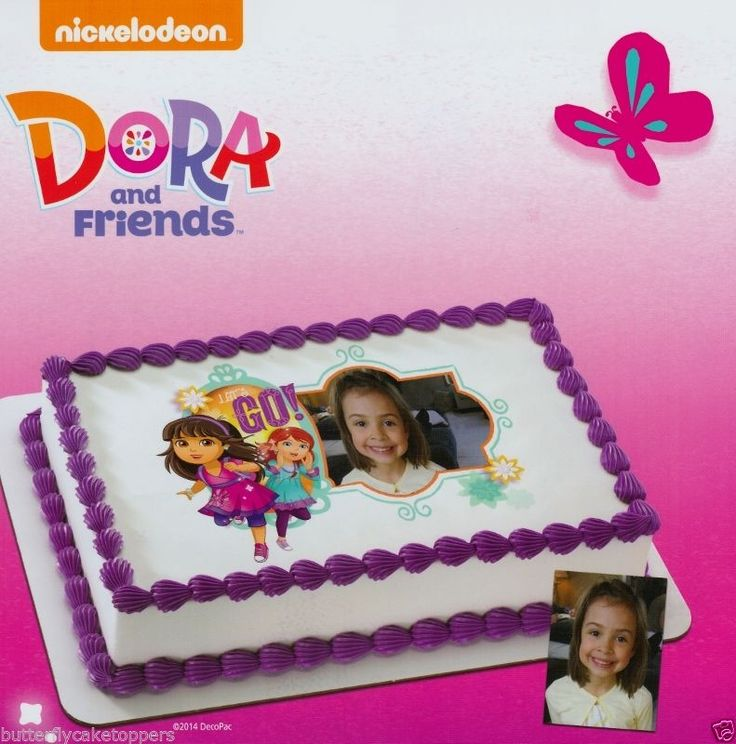 Best Dora And Friends Bth Party Images On Pinterest Birthday - Dora birthday cake toppers