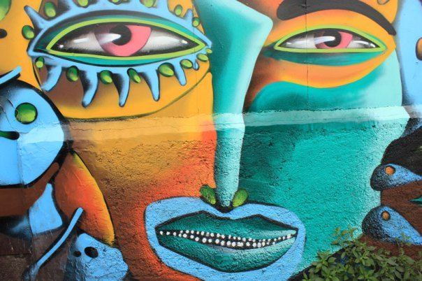 #Impulseearth #Valparaiso #Chile #Graffiti #Street Art #Face #Painting #Creativity #Blue #Yellow #Eyes