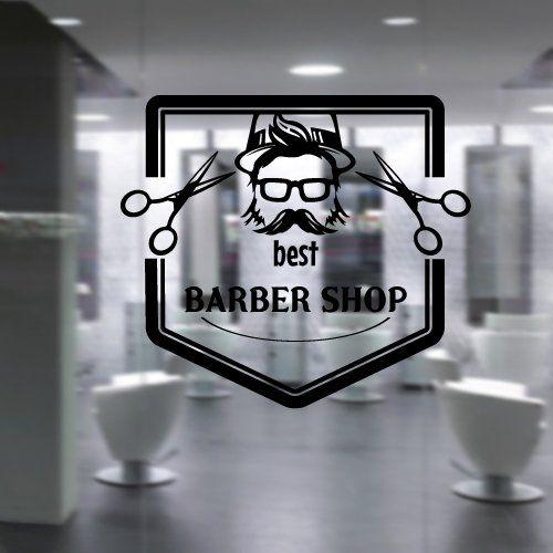 Wall decal vinyl sticker art decor hairdressing hair salon style beauty barber shop cuts beard - Stickers salon design ...