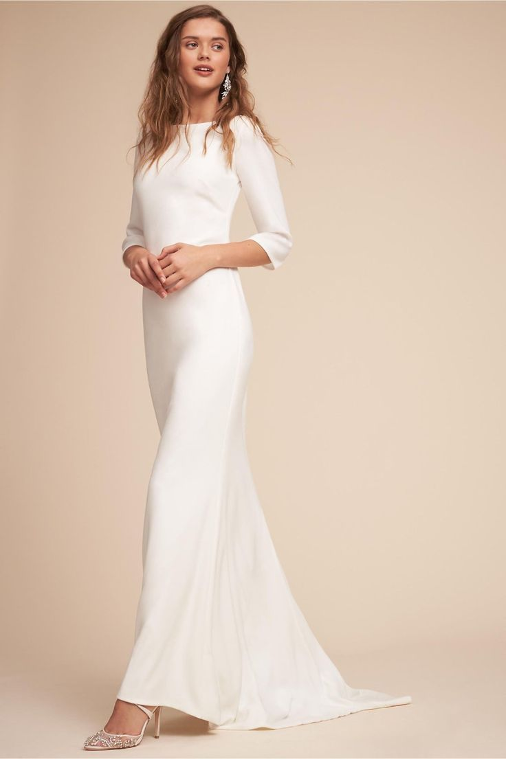 Bacall Gown from BHLDN | Minimalist Wedding Dress | Pinterest ...