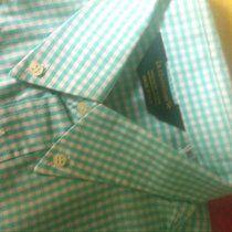 Camicia uomo a quadri quadretti bianca e verde acqua ''La chemiserie'' made in Italy taglia XL