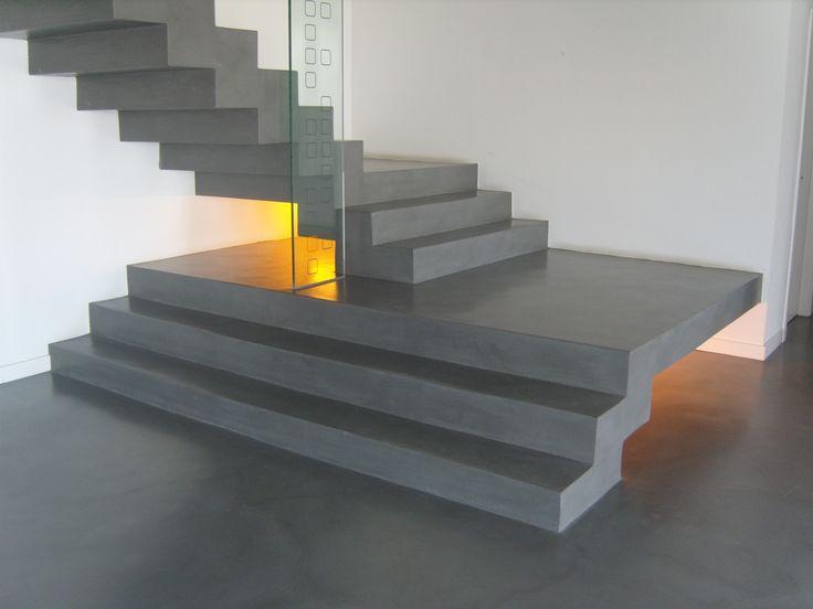 Escaleras modernas, con estilo vanguardista. Escalera de microcemento acabado urban XX