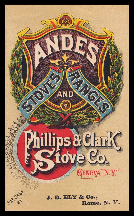 Phillips Clark Stove Company / Andes Stoves Ranges | Sheaff : ephemera -- booklet cover