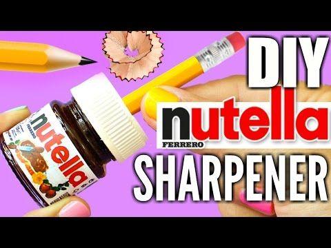 DIY NUTELLA SHARPENER | EASY DIY School Supplies - YouTube