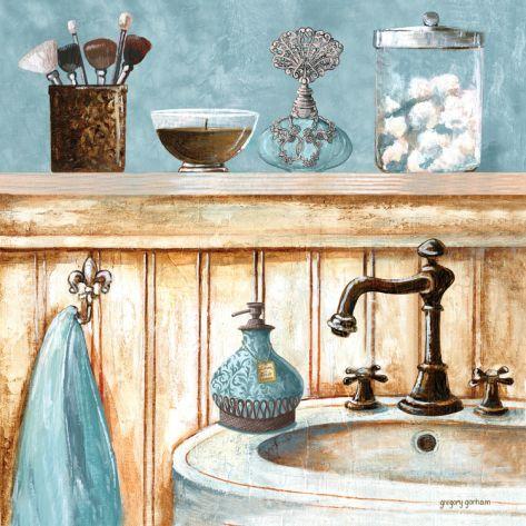 Blue Bath I Print by Gregory Gorham at eu.art.com
