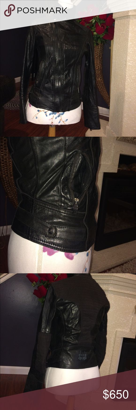 Diesel biker Leather jacket size XS Super cute in great condition no rips no stains no tear Diesel Jackets & Coats
