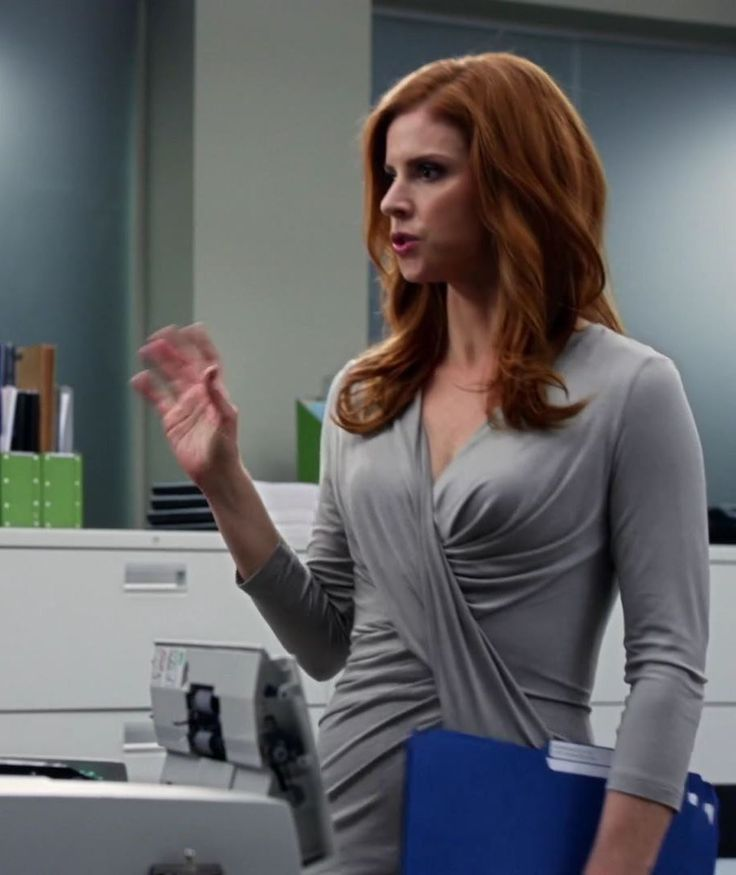 "Donna's Donna Karan Three-Quarter-Sleeve V-Neck Draped Dress Season 3, Episode 4: ""Conflict of Interest"" - Spotted on TV"