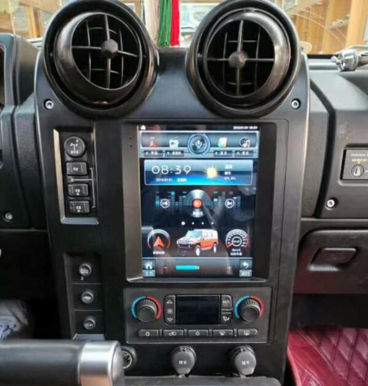 9 7 Vertical Screen Tesla Android Car Stereo Radio Audio Dvd Gps Navigation Head Unit Sat Nav Infotainment Replacement Satnav For Hummer H2 2002 2003 2004 2005 Android Car Stereo Gps Navigation Hummer H2