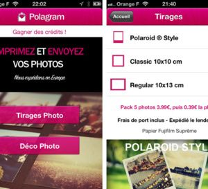 Commandez vos tirages photo depuis l'iPhone avec Polagram