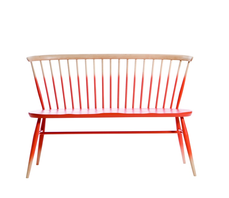 The Ercol Love Seat from the front cover of A Place Called Home - we LOVE!