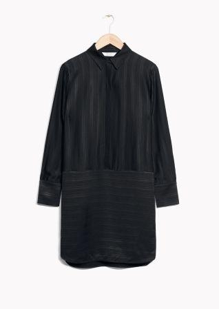 & Other Stories | Oversized Satin Shirt Dress