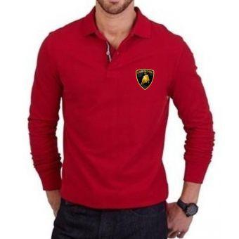 Polo Manche Longue  Lamborghini - Rouge