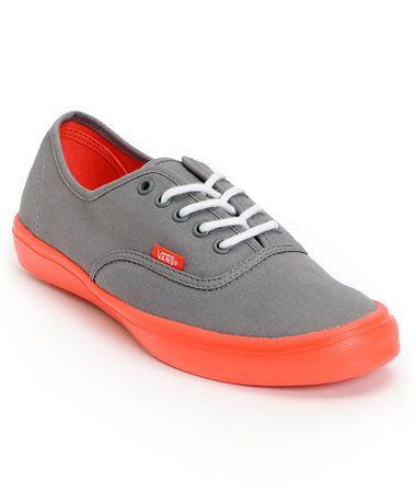 Vans Authentic Lite Grey & Coral Shoe