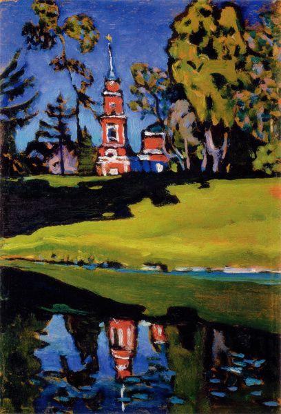 Kandinsky, Wassily | Red Church (1900-1910)