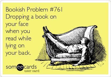 This happens more than it should...I wish I still was in a bunk bed so I could create my book holder again!