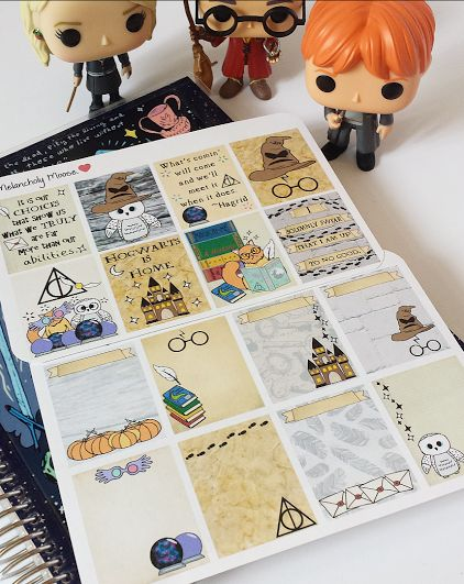 Harry Potter Inspired Planner Stickers- Full boxes