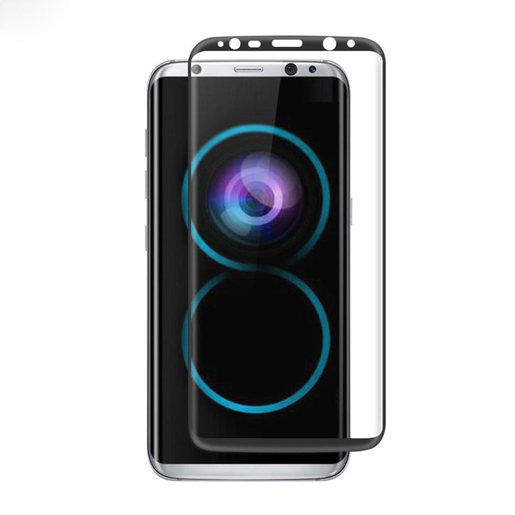 Multi-colors 9H 3D Arc Edge Tempered Glass Screen Protector For Samsung Galaxy S8 Plus