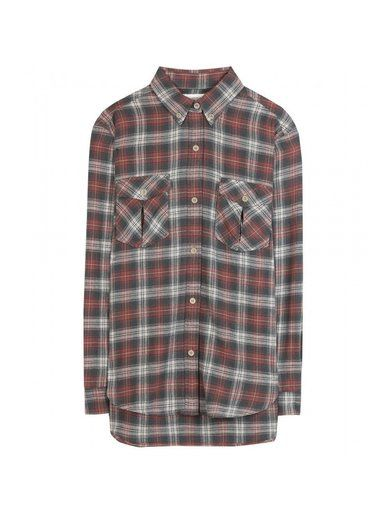 'Green check cotton-wool blend shirt By Isabel Marant,�toile'