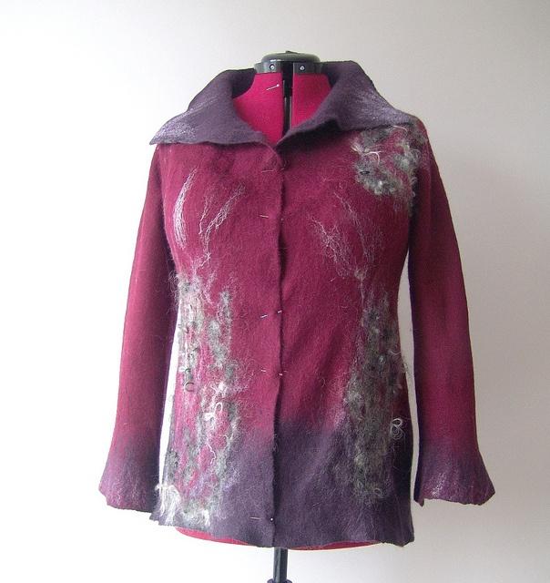 Felted jacket - Burgund | Flickr - Photo Sharing!