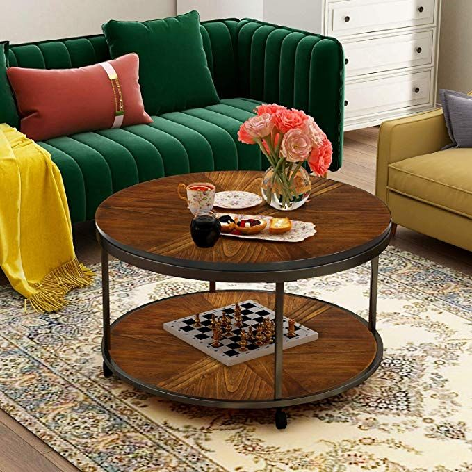 amazon coffee table round with caster wheels norcia