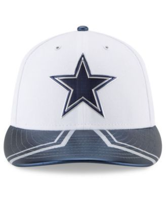 New Era Dallas Cowboys 2017 Low Profile Draft 59FIFTY Cap - White/Navy 7 3/8