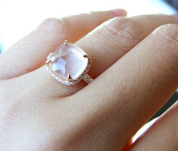 Teresa Palmer's Rose Quartz Engagement Ring