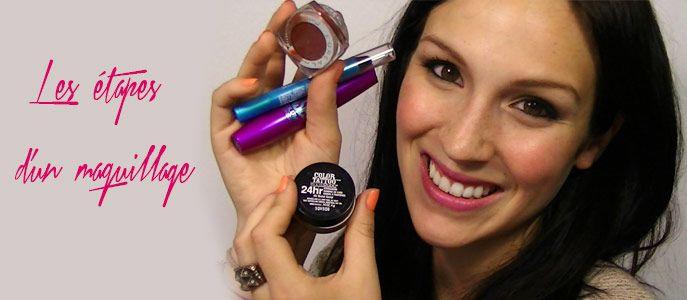 Les étapes d'un maquillage Cynthia Dulude
