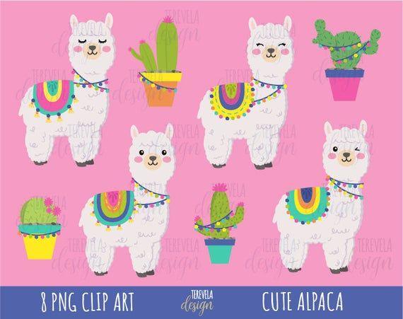 Alpaca Clipart Llama Clipart Commercial Use Lama Clipart Animal Clipart Lama Graphics Kawaii Llama Cute Alpaca Cactus Cute Boho Clipart Dibujos Bonitos Photoshop Elementos