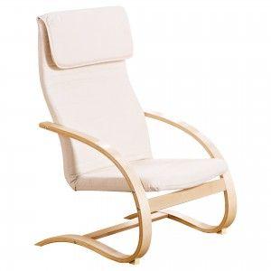Relaxstuhl Tamara (natur lackiert,beige, federnd)