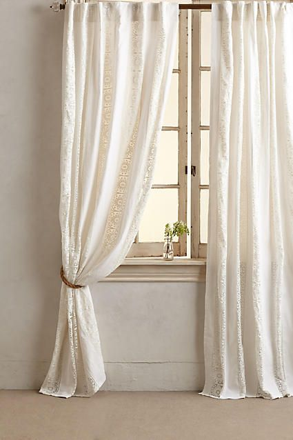 Florentine Curtain - anthropologie l Beach Home Windows l www.DreamBuildersOBX.com