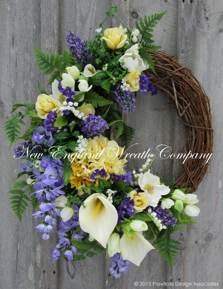 Easter Sunrise Garden Wreath.  ~A New England Wreath Company Designer Original~