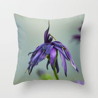 violet color Throw Pillow by Oscar Tello Muñoz - $20.00