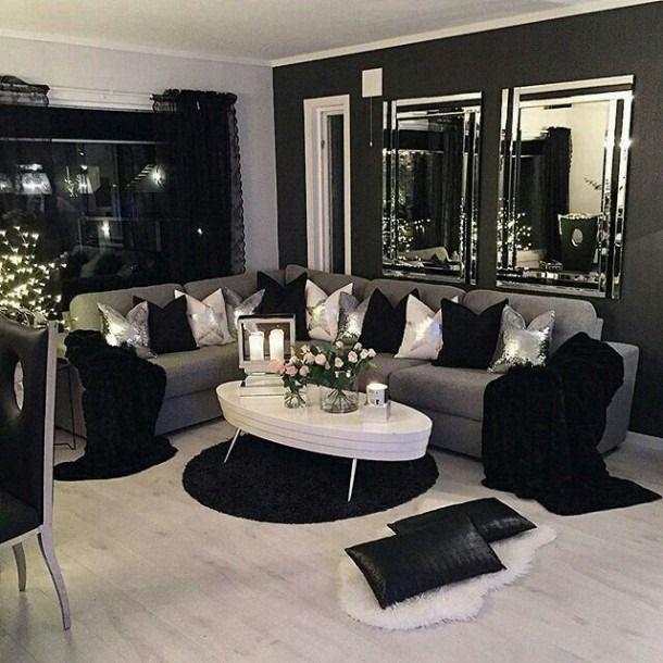 Black And Silver Living Room Di 2020 Desain Interior Interior Desain Interior Rumah #silver #living #room #accessories