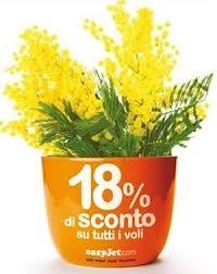 festa della donna - vasetto fiori personalizzato @easyjet