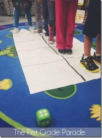 1subtraction - Have students stand on a ten frame made from butcher paper