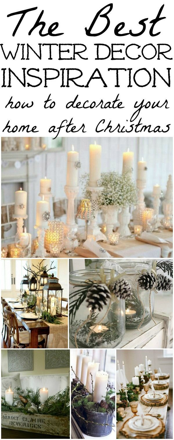 25 best ideas about Winter Home Decor on PinterestChristmas