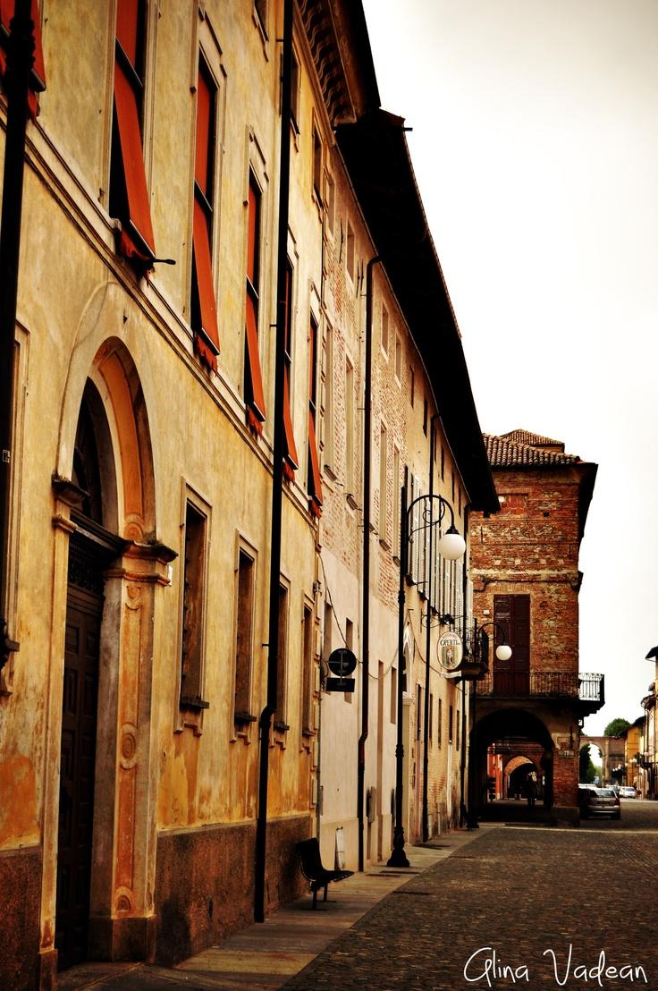 Italy. A cityscape from Cherasco