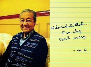 Khabar dan gambar terkini Tun Mahathir yang sedang di rawat di IJN