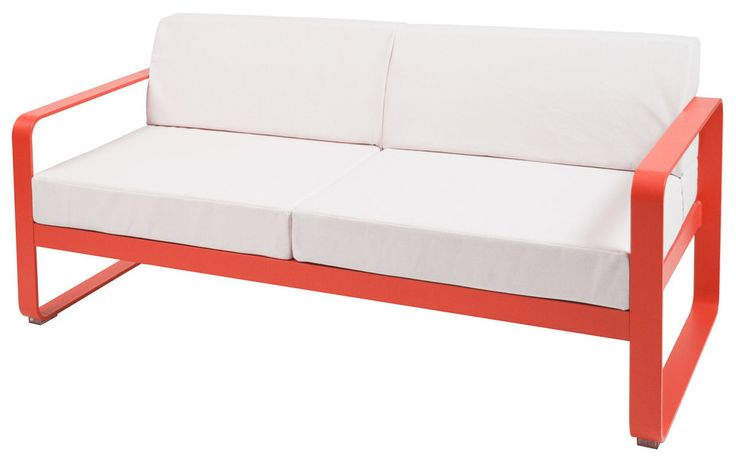 Bellevie Low Sofa with White Upholstery