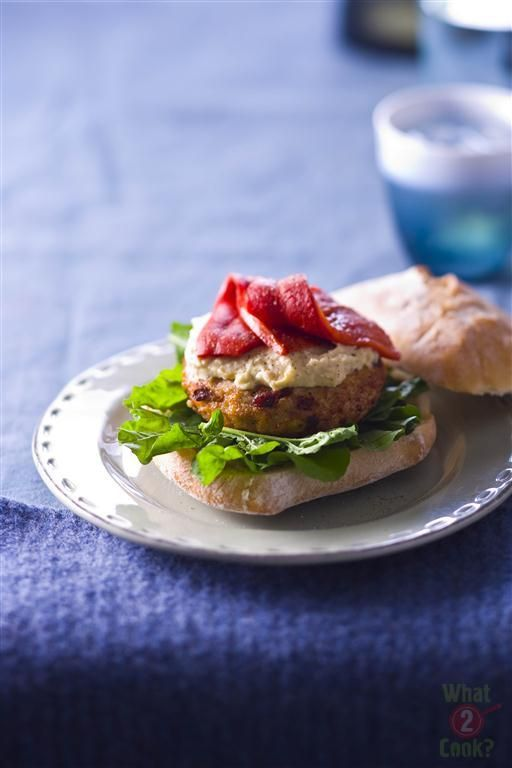 Chicken, Cheese and Sundried Tomato Burgers