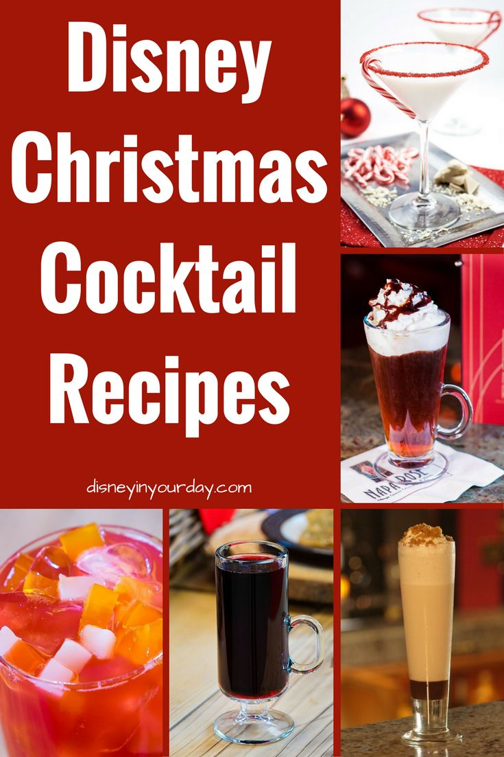 Disney Christmas Cocktail recipes - Disney in your Day