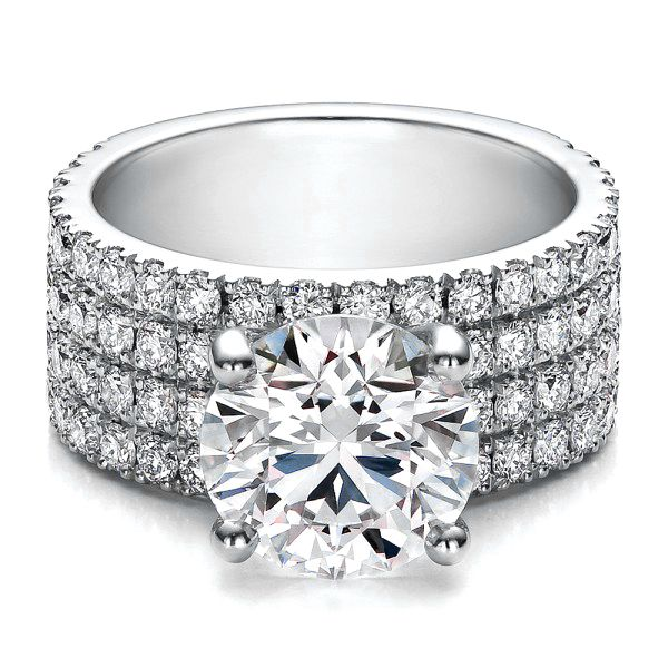 elegant bands women for the stone two diamonds sitting by engagement unique diamond rings ring large side with larger