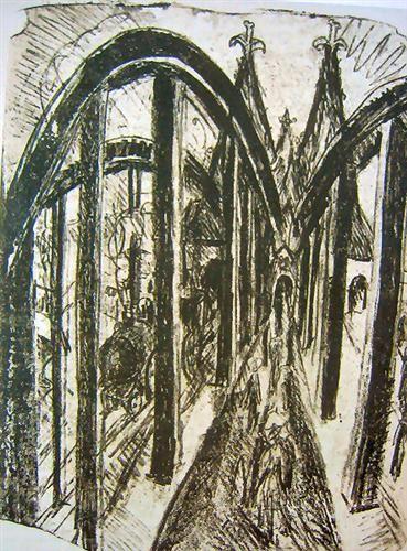 Rhine bridge in Köln - Ernst Ludwig Kirchner