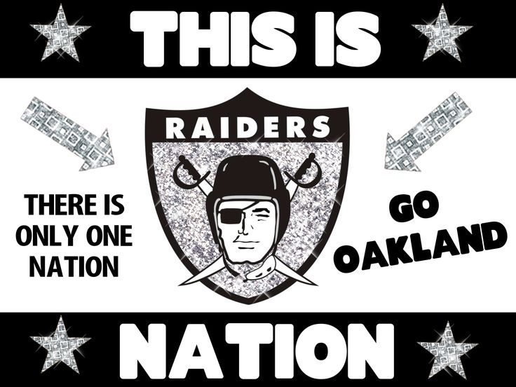Oakland Raiders Nation Poster Idea