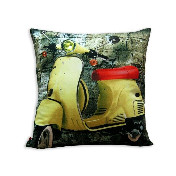 Cushion Cover Yellow Scooter - Rs.539.10