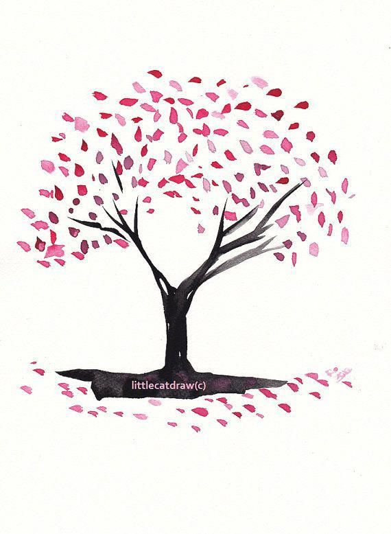 I Truly Fancy The Colorings Outlines And Depth This Is Definitely An Excellent Layout If You Really Want A Cherryblossomt Tree Drawing Tree Art Tree Doodle