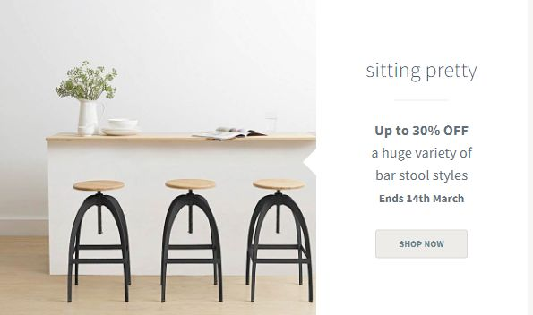 Get the stylish high look with enjoying the comfortable sitting. Purchase now the stylish bar stools online and grab the special savings of up to 30%. Just at Zanui. #Furniture #home_decoration #discountcodes #promocodes #couponcodes #deals #offers #sale #Australia